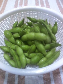 収穫物2011 菜園編 枝豆